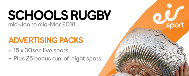 EIR SPORT - SCHOOLS RUGBY - MID-JANUARY TO MID-MARCH 2018